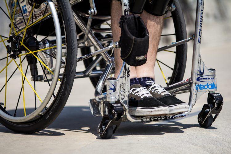 Einfach mit Rollstuhl zum Stadtlauf?