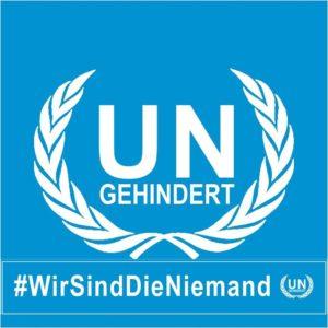 Anlehnung an Logo der Vereinten Nationen